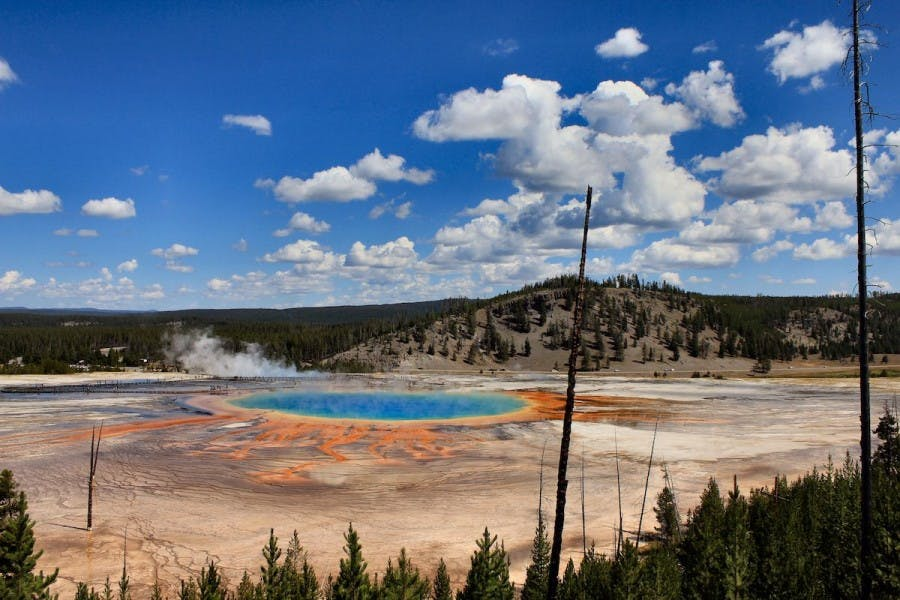 Grand Prismatic Spring, la sorgente colorata del parco di Yellowstone