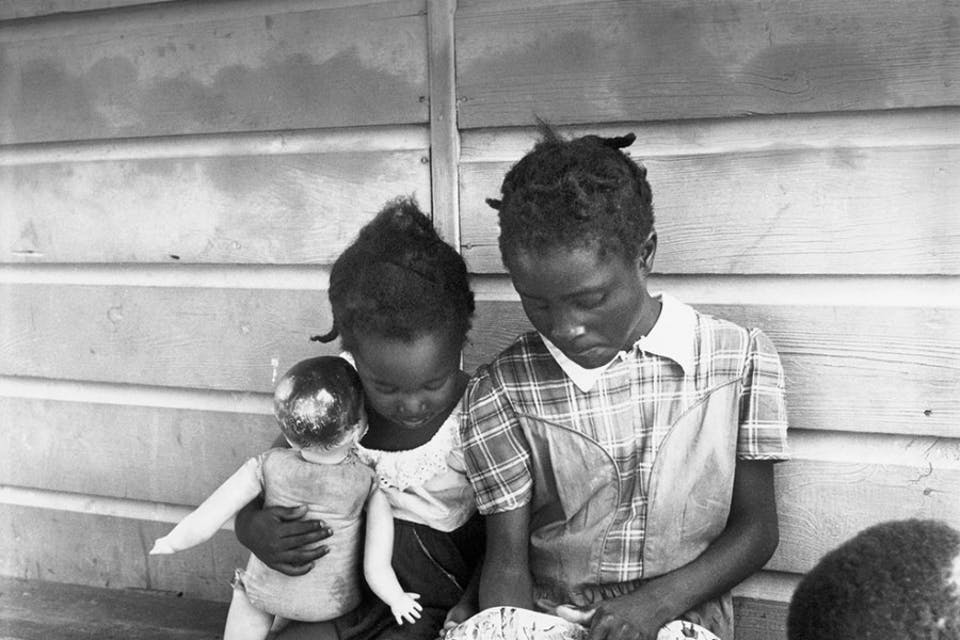 USA. Long Island. New York. Migratory Labour. Children of migrant potatoe pickers. 1951.