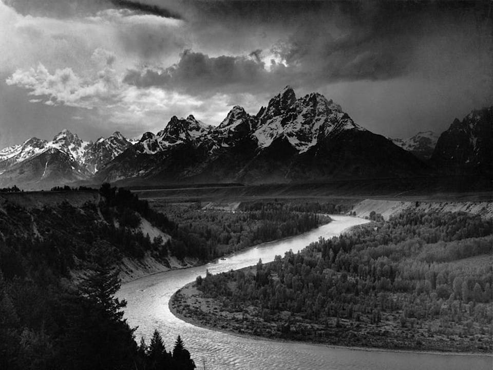The Tetons and the Snake River (Parco nazionale del Grand Teton, 1942). Immagine via.