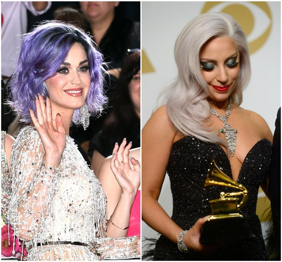 Katy Perry e Lady Gaga Grammy 2015