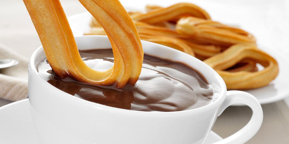 churros con cioccolata