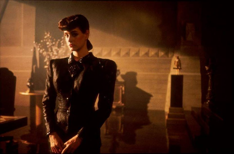 Sean Young in Blade Runner (1982). Via