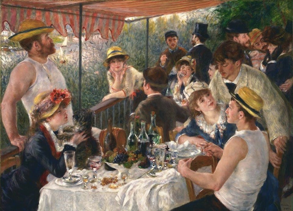 Renoir - Le déjeuner des canotiers. Phillips Collection, Washington. Via
