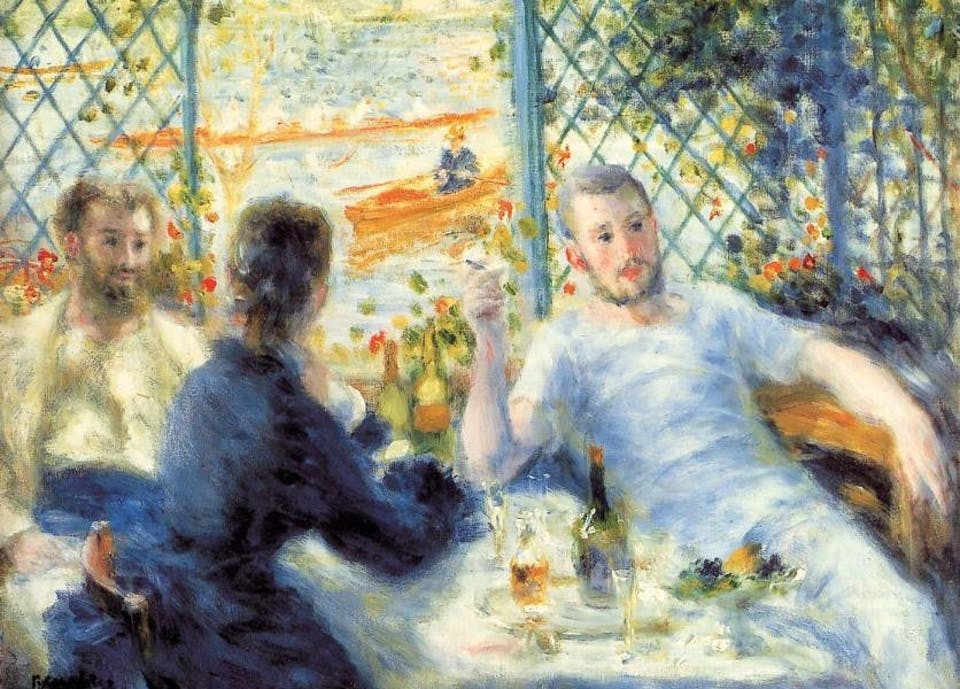 Renoir - Canotiers, Déjeuners au bord de la rivière, 1879. Art Institute of Chicago. Via