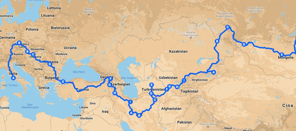 tragitto mongol rally